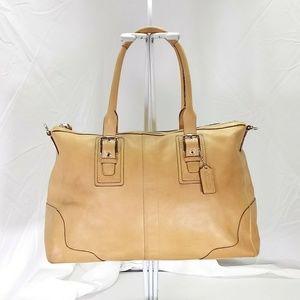 Coach Tan Leather Hampton Shoulder Bag